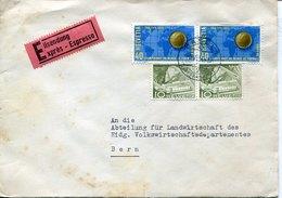 51809 Switzerland,cover Circuled 1954 Express With 2x  40rp.world Football Champ.switzerland - 1954 – Schweiz