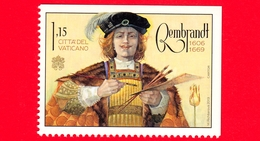 Nuovo - MNH - VATICANO - 2019 - 350 Anni Della Morte Di Rembrandt Van Rijn, Pittore – Ritratto – 1.15 - Vaticano