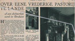 """LOVENJOUL..1935..BIERBEEK.. EEN VREDIGE PASTORIJ VOOR DE KUNSTLIEFHEBBER EEN WAAR MEKKA/  """" TAXANDRIA"""" MUSEUM TURNHOUT - Vieux Papiers"""