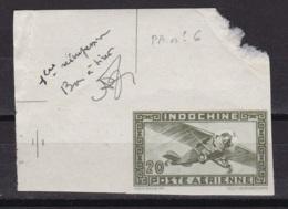 "Indochine Epreuve Du PA N°6 (20c )""bon A Tirer 1e Reimpression"" - Indochine (1889-1945)"