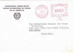 1968 Internationales Arbeitsamt Brief Nach Den Hag - Postage Meters