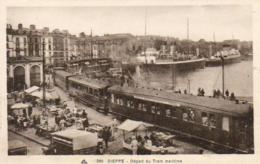 D76  DIEPPE  Départ Du Train Maritime - Dieppe