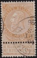 Belgie      .    OBP     .    62       .   O     .   Gebruikt   .   /    .   Oblitéré - 1893-1900 Schmaler Bart