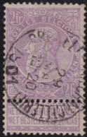 Belgie      .    OBP     .   67      .   O     .   Gebruikt   .   /    .   Oblitéré - 1893-1900 Schmaler Bart