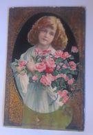Kinder, Mode, Rosen,  1912, Prägekarte  ♥  - Enfants