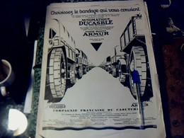 Publicité De Presse 30 X 40 Cm Année 1927  Pneus Ducasble Armur Vs Dentol & Parfum Fichaal - Publicités