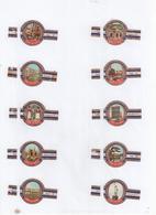 Sigarenbanden Derk De Vries Serie 133 - Bauchbinden (Zigarrenringe)