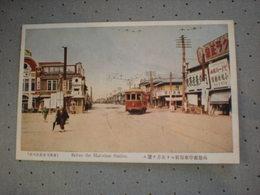 JAPAN - HAKODATE - BEFORE THE STATION - TRAMWAY - Japan
