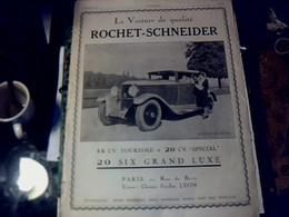 Publicité De Presse 30 X 40 Cm Année 1927  Automobile Rochet - Schneider Vs Automobile Chenard & Walcker - Publicités