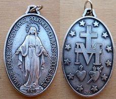 NM-421 Médaille Ovale Ö Marie Conçue Sans Péché Anagramme AS.de 40mm/25mm,poids=8,10g - Religione & Esoterismo