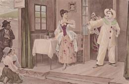 CIPOLLA, DER BAJAZZO (LEONCAVALLO) IL PAGLIACCI. ART POSTCARD CIRCA 1900's NOT CIRCULATED -LILHU - Peintures & Tableaux