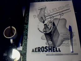 Publicité De Presse 30 X 40 Cm Année 1934 Huile AéROSHELL Vs Différentes Pubs Cf Photos - Publicités