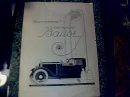 """Publicité De Presse 30 X 40 Cm   Automobiles """" Ballot  2 L Tourisme """" Au Dos Différents Pubs Voir Photos - Publicités"""
