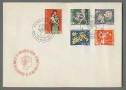 C5075 HELVETIA FDC 1962 PRO JUVENTUTE 50 ANNI PER LA GIOVENTU 5 VALORI - FDC