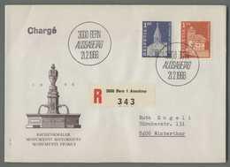 C5079 HELVETIA FDC 1966 BANDENKMALER MONUMENTS HISTORIQUES VG RACCOMANDATA - FDC