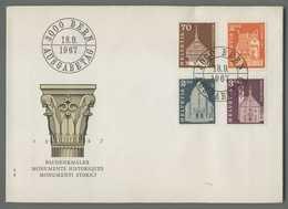 C5082 HELVETIA FDC 1967 MONUMENTI STORICI MONUMENTS HISTORIQUES 4 VALORI - FDC