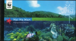 HONG KONG 2002 WWF Hoi Ha Wan Marine Park Fish Fishes Corals Animals Fauna Complete Prestige Booklet Carnet MNH - Marine Life