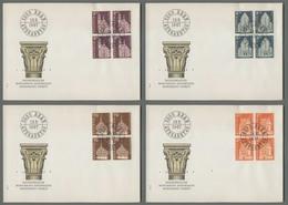 C5083 HELVETIA FDC 1967 MONUMENTI STORICI MONUMENTS HISTORIQUES 4 BUSTE CON QUARTINA - FDC