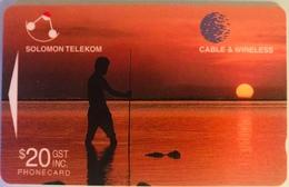 SALOMON  - Phoncard  - Cable § Wireless - Solomon Telecom -  Fisherman  -  SI$20 - Salomon