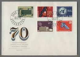 C5089 HELVETIA FDC 1970 FRANCOBOLLI SPECIALI TIMBRES POSTE SPECIAUX 5 VALORI - FDC