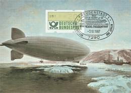 Postcard Graff Zeppelin Cancel Freudenstadt - Letze Fahrt LZ 127 - 1987 - Ohne Zuordnung