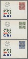 C5091 HELVETIA FDC 1970 FRANKOMARKEN 3 BUSTE CON QUARTINA - FDC