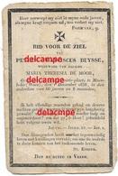 Doodsprentje Petrus Buysse Moerbeke Waas En Aldaar Overleden 1838 In Den Ouderdom 66 Jaar De Moor - Images Religieuses