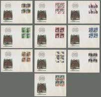 C5102 HELVETIA FDC 1973 FRANCOBOLLI ORDINARI TIMBRES-POSTE ORDINAIRES 10 NUSTE CON QUARTINA - FDC