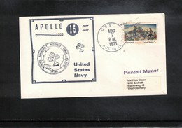 USA 1971 Space / Raumfahrt Apollo 15 Recovery Force Atlantic USS Austin Interesting Cover - Briefe U. Dokumente