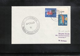 Germany 1971 Space / Raumfahrt Apollo 15 Ramstein Recovery Control Center Interesting Cover - Briefe U. Dokumente