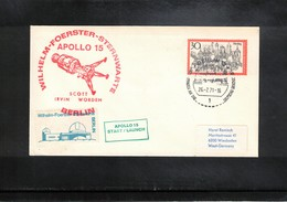 Germany 1971 Space / Raumfahrt Apollo 15 Wilhelm Foerster Sternwarte Berlin Interesting Cover - Briefe U. Dokumente