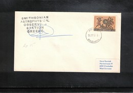 Greece 1971 Space / Raumfahrt Apollo 15 Tracking Station Interesting Cover - Briefe U. Dokumente