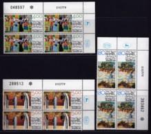 ISRAEL, 1979, Cylinder Corner Blocks Stamps, (No Tab), Children'sPaint Jerusalem, SGnr(s). 766-868, X1083 - Israel