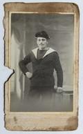 2 Photographies Anciennes Soldat Marin Pissard André 1915 WW1 Pissard Lucien Photographe Barrier à Cognac - 1914-18