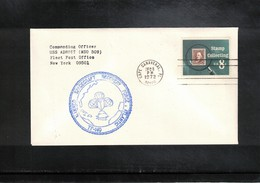 USA 1972 Space / Raumfahrt Apollo 17 Recovery Force Atlantic  USS Adroit Interesting Cover - United States