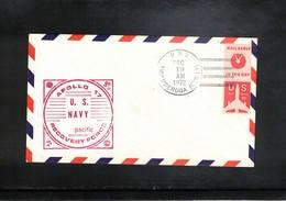 USA 1972 Space / Raumfahrt Apollo 17 Recovery Force Pacific USS Tonderoga Interesting Cover - Briefe U. Dokumente