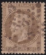 France       .    Yvert    .    28B        .         O      .      Oblitéré - 1863-1870 Napoleon III With Laurels