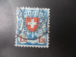 Perforé  Perfin  Suisse  à Voir ;   Perforation    EK   Ref  E 14 - Perforadas