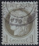 France       .    Yvert    .    50          .         O      .      Oblitéré - 1871-1875 Ceres