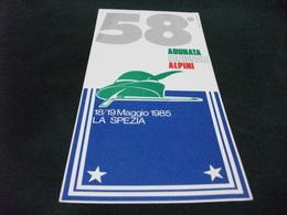 Fotoscope LUNGO FORMATO 58° ADUNATA NAZIONALE ALPINI LA SPEZIA 1985 RETRO ANNULLO - Reggimenti