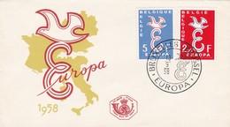 Enveloppe FDC 1064 1065 Europe Europa - FDC