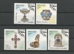 Russia 1995 Fabergé Museum Pieces Y.T. 6142/6146 (0) - 1992-.... Fédération