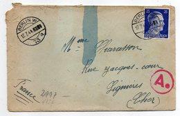 Allemagne -- 1943-- Tp N° 717 Sur Lettre Censurée  De Berlin W  Pour LIGNIERES-18 (France)............à Saisir - Brieven En Documenten