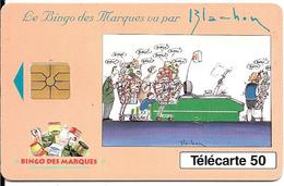 CARTE-PUCE-PRIVEE-PUBLIC- 50U-EN 758-GEMA-10/93-BINGO Des MARQUES-Blachon- V° Série 2001-Utilisé Reste 35u-TBE - 50 Unités