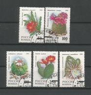 Russia 1994 Cactus Flowers Y.T. 6052/6056 (0) - 1992-.... Fédération