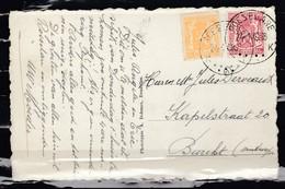 Postkaart Van Roeselare K Naar Burcht - 1935-1949 Small Seal Of The State