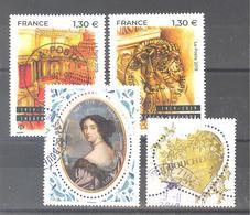 France Oblitérés : Mme De Maintenon - N°5313 /5314 (théâtre Mogador) & 5292 (cachet Rond) - Francia