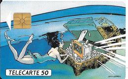 CARTE-PUCE-PRIVEE-PUBLIC- 50U-EN532-GEMA-12/92-TIC TAC LAMY 1-R°Glacé-TBE-LUXE - 50 Unités