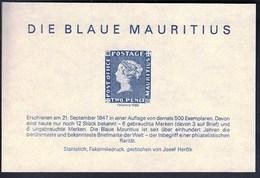 Germany 1986 / Blaue Mauritius / Faksimiledruck, Faksimile, Vignette, Cinderella - Cinderellas