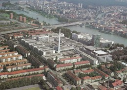 Luftaufnahme Der F. Hoffmann - La Roche & Co. AG. Basel Mit Mi: 1358 / Zu: W66 - BL Basle-Country